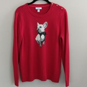 Charter Club French Bulldog Sweater Pullover PL